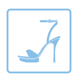 Woman high heel sandal icon vector image