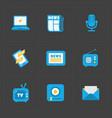 modern colorful flat social icons set vector image