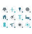 stylized power energy and electricity icons vector image