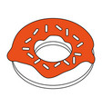 donut with sprinkles pastry icon image vector image