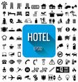Hotel icon set on white background vector image