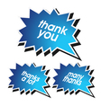 Thank you element vector image