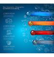 Infographic template for modern data visualization vector image