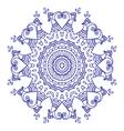 purple doodle paisley mandala hand drawn vector image