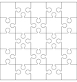25 jigsaw puzzle background vector image