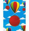 balloons frame circle vector image vector image