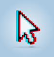 Stereoscopic pointer arrow vector