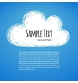 Doodle Cloud Background vector image