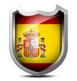 Flag of Spain metal shield vector image