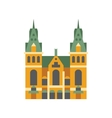 Holandaise City Hall Building Simplified Icon vector image