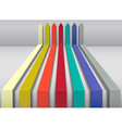 Multi colored arrows vector image