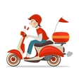 Scooter delivery icon vector image