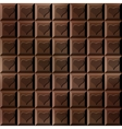 Seamless chocolate bar with hearts vector image