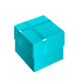 azure Package Cardboard Box Opened vector image