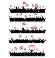 Cheering or Protesting Crowd Austria vector image