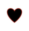 heart black of red polka sign vector image