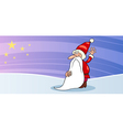 Santa Claus with star cartoon card vector image