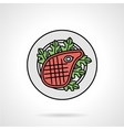 Steak flat color icon vector image