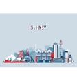 Sydney Australia City Skyline Background vector image