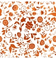Vintage seamless pattern with red flowers on a vector image