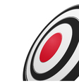 Black and red round target vector image