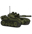 Funny green tank vector image