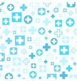 Medical background Blue crosses vector image vector image