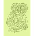 Cobra snake color drawing vector image