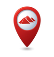 Map pointer with pyramids icon vector image vector image