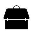 icon backpack schoolbag vector image