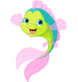 Cute cartoon fish vector image