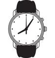 Symbol wristwatch vector image vector image