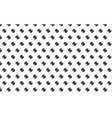 black gear pattern on white background vector image