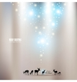 beautiful christmas background with reindeer and p vector image