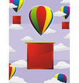 balloons frame square vector image vector image