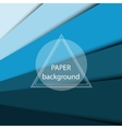 Abstract background with blue paper sheets vector image