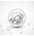 Background with spheres vector image