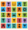 Big set black avards icons vector image