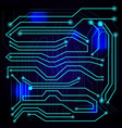 blue background with high tech circuit board vector image