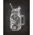 chalk sketch of lemonade vector image