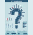 city infographics set with charts and other vector image