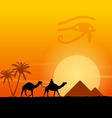 Egypt symbols and Pyramids vector image