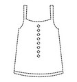feminine blouse isolated icon vector image