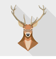 Geometric deer head vector image