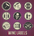 Vintage Style Wine Labels and Icons vector image