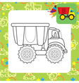 Colorful dump truck toy for coloring vector image