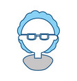 man with glasses cartoon vector image