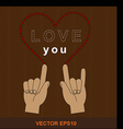Heart LOVE you vector image vector image