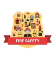Fire Concept Flat vector image