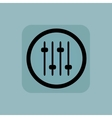 Pale blue console faders sign vector image